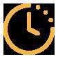 Icône horloge jaune