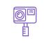 icône violette caméra