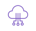 icône violette cloud
