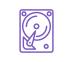 icône violette disque dur