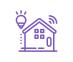 icône violette domotique