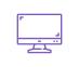 icône violette écran d'ordinateur