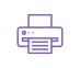 icône violette imprimante