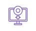 icône violette logiciel informatique