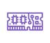icône violette carte mémoire