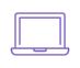 icône violette ordinateur portable