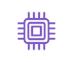 icône violette processeur informatique