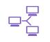 icône violette réseau informatique