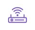 icône violette routeur