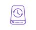 icône violette disque de sauvegarde