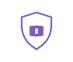icône violette bouclier firewall