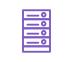 icône violette serveurs