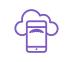 icône violette smartphone et nuage cloud