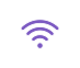 icône violette wifi